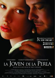 "Poster for the movie ""La Joven De La Perla"""