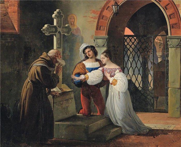 4. El casamiento de Romeo y Julieta, Francesco Hayez, 1830