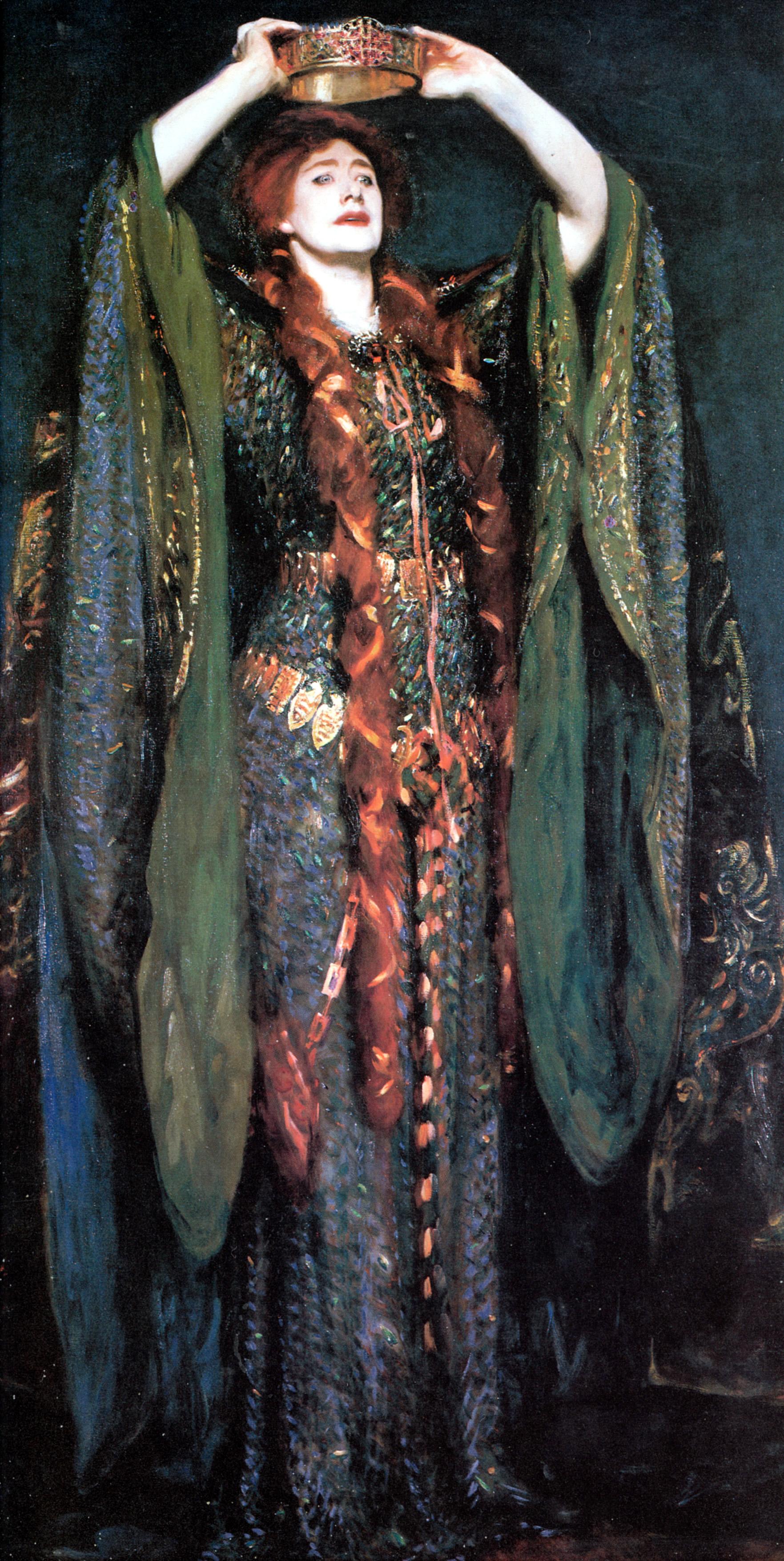 17. Dame Ellen Terry as Lady Macbeth, John Singer Sargent, 1889