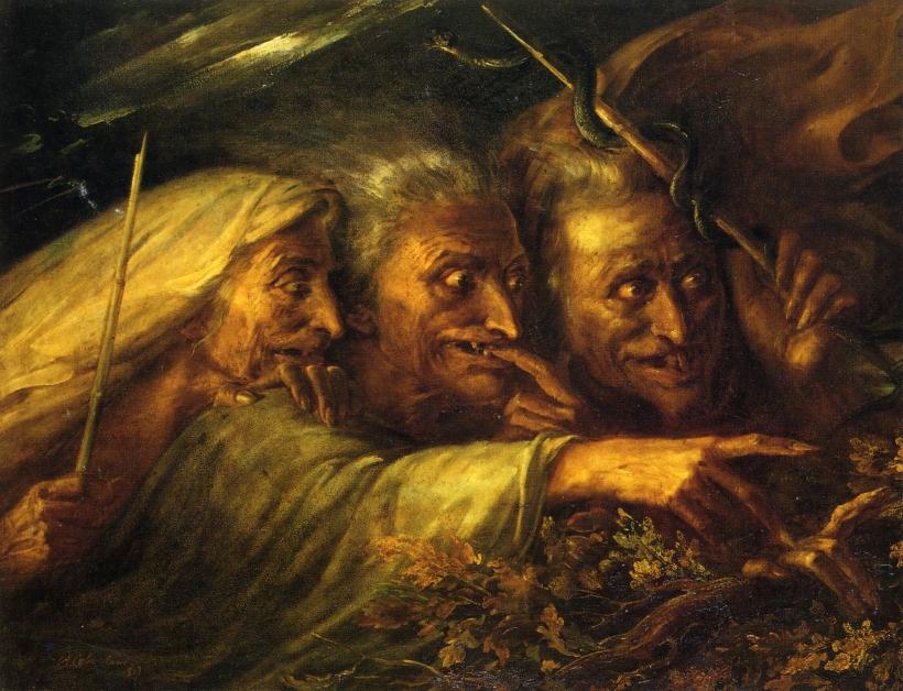 9. Tres brujas de Macbeth, Alexandre Marie Colin, 1827