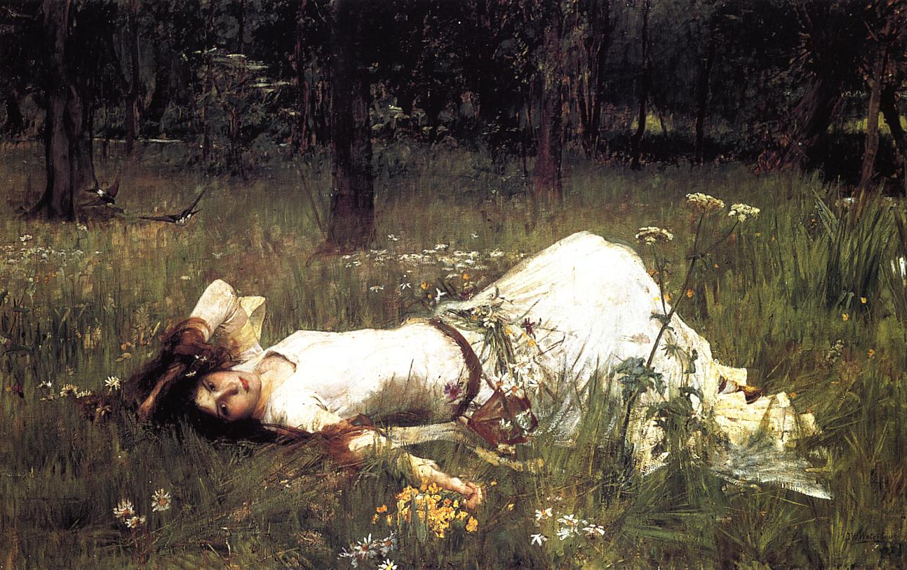 10. John William Waterhouse, Ofelia, 1889