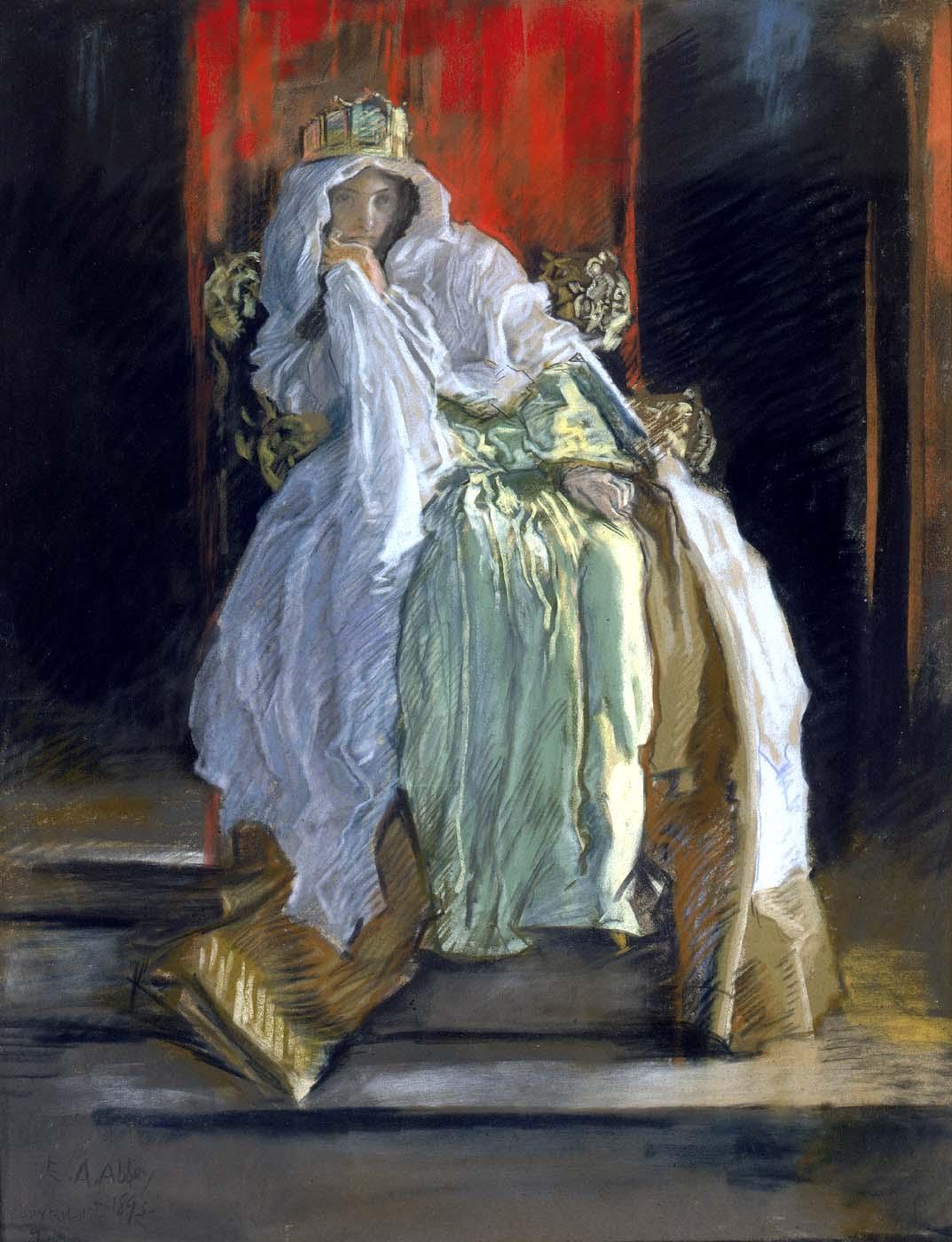 13. Edwin Austin Abbey, La reina en Hamlet, 1895