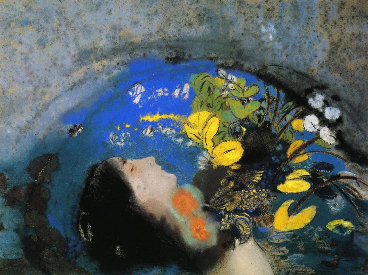 15. Odilon Redon, Ofelia, 1903