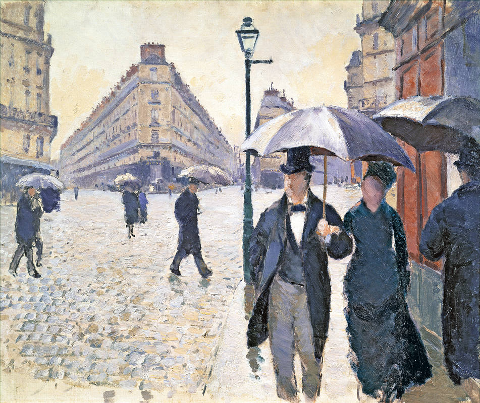 Sketch for 'Paris, a Rainy Day', 1877 (oil on canvas), pre-restoration (see 181504)