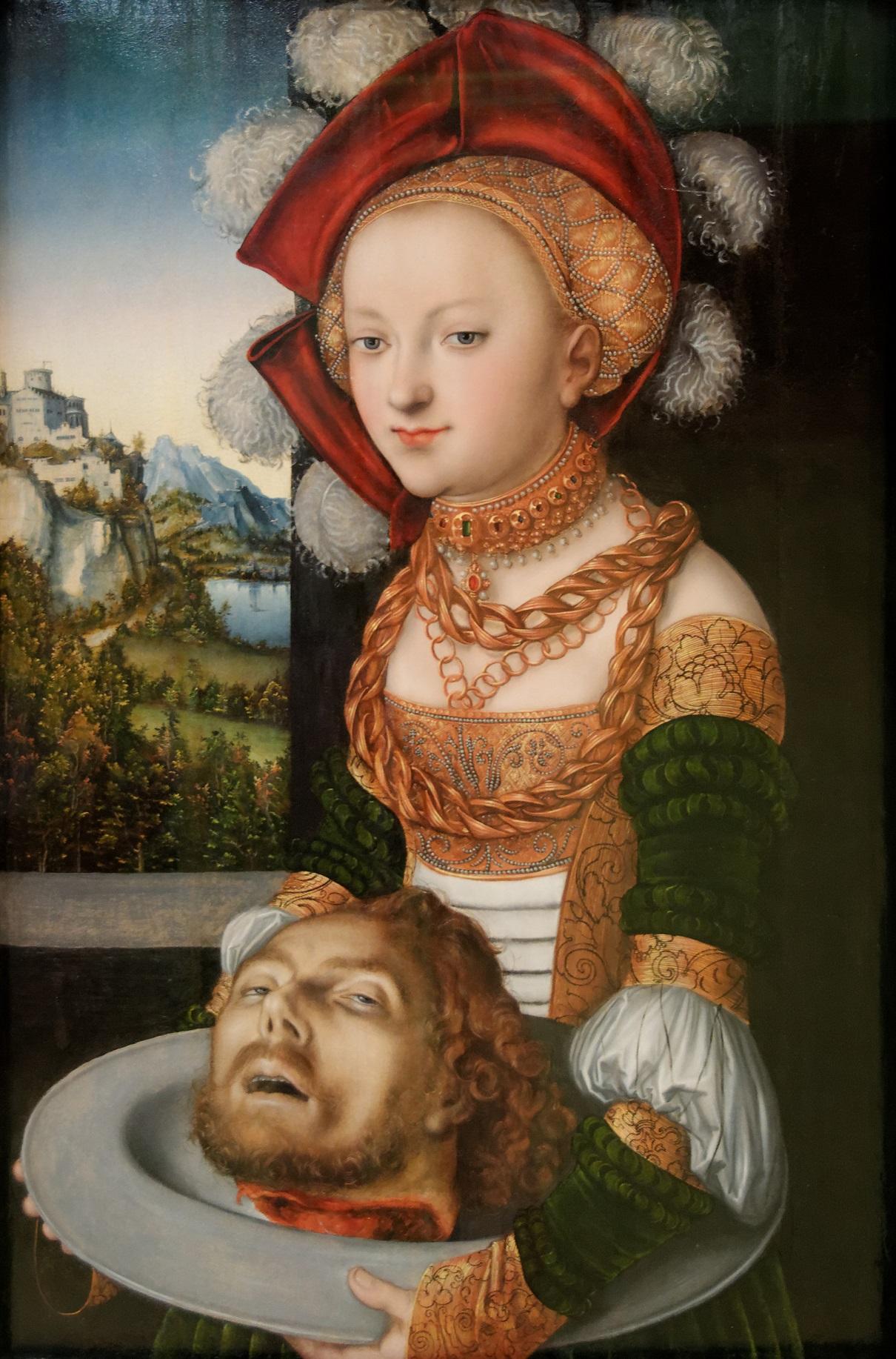 2 Salomé_avec_la_tête_de_Saint_Jean-Baptiste._Lucas_Cranach