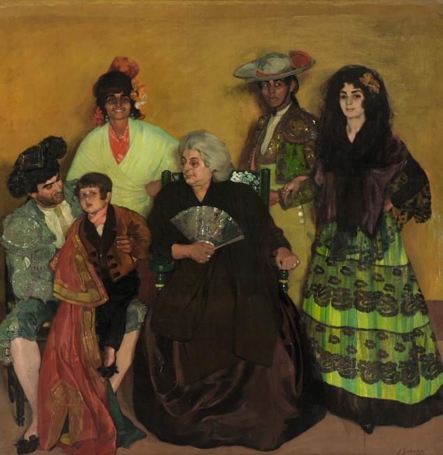 18. Zuloaga, La familia del torero gitano