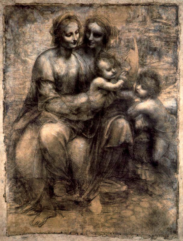 La Virgen y el Niño con Santa Ana y San Juan el Bautista ataque