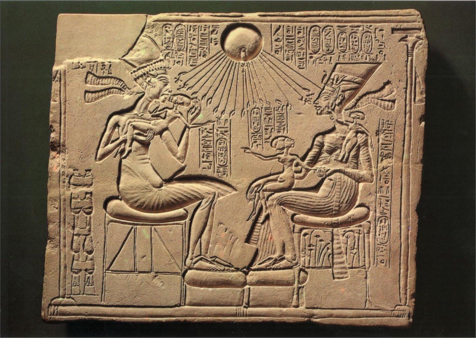 4. Relieve Amenofis IV y Nefertiti