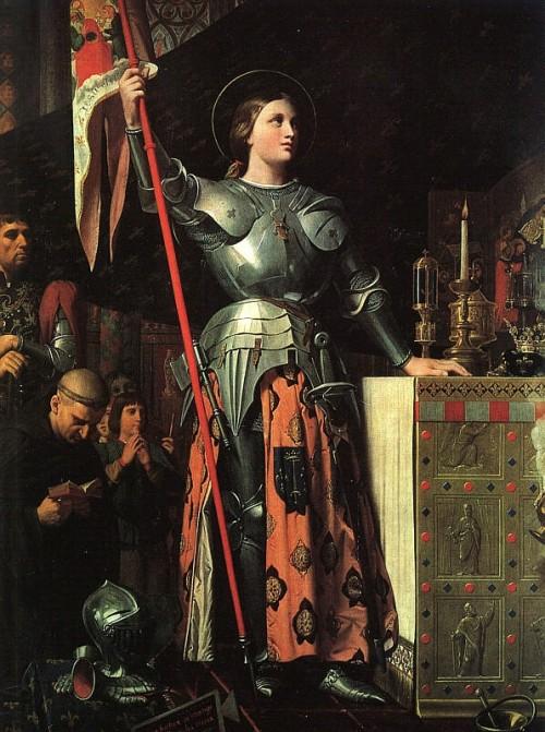 5. Juana de Arco en la Catedral de Reims, Ingres