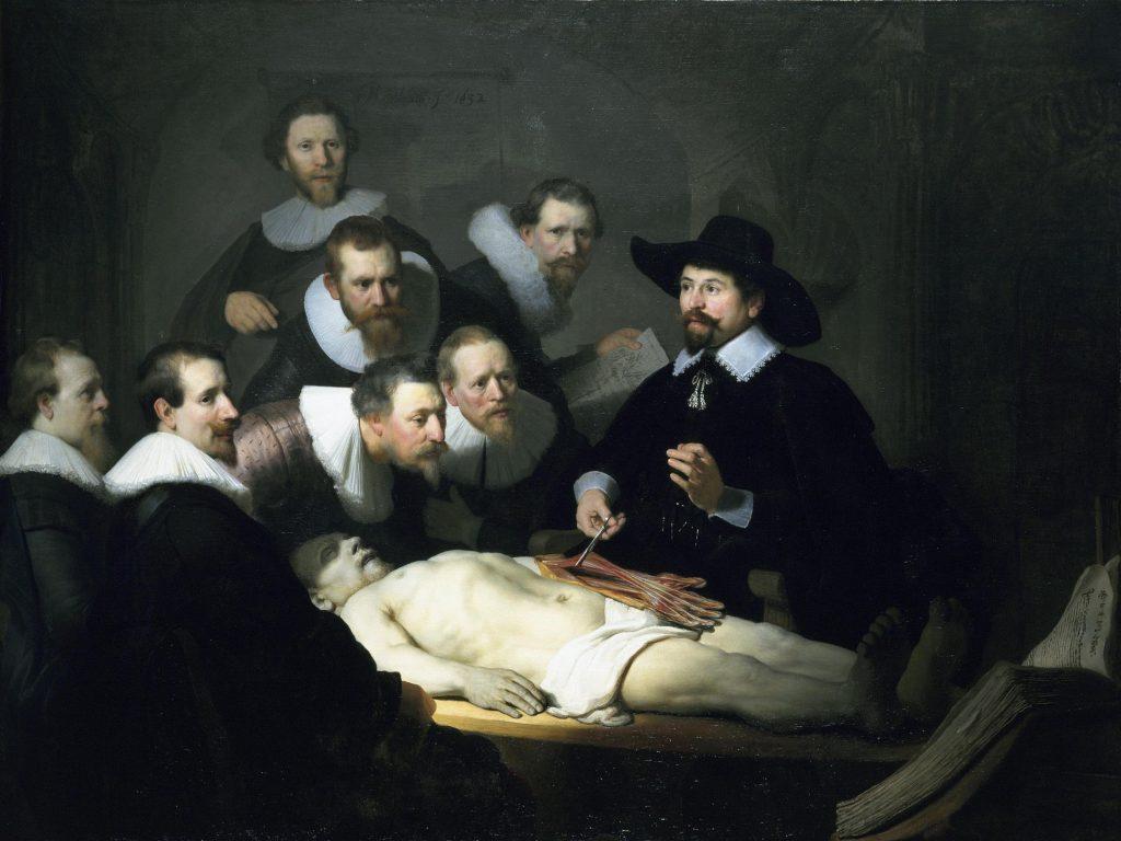 3. Lección de anatomía del profesor Tulp