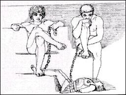 Oto y Efialtes con Ares Cautivo
