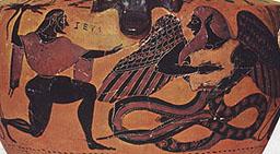 Zeus y Tifón, hidria ateniense