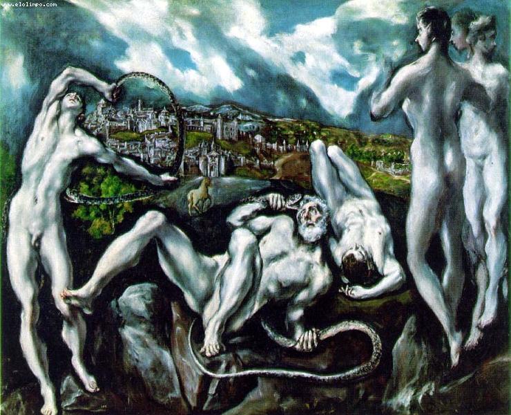 16. Vistas de Toledo con el Laocoonte, el Greco