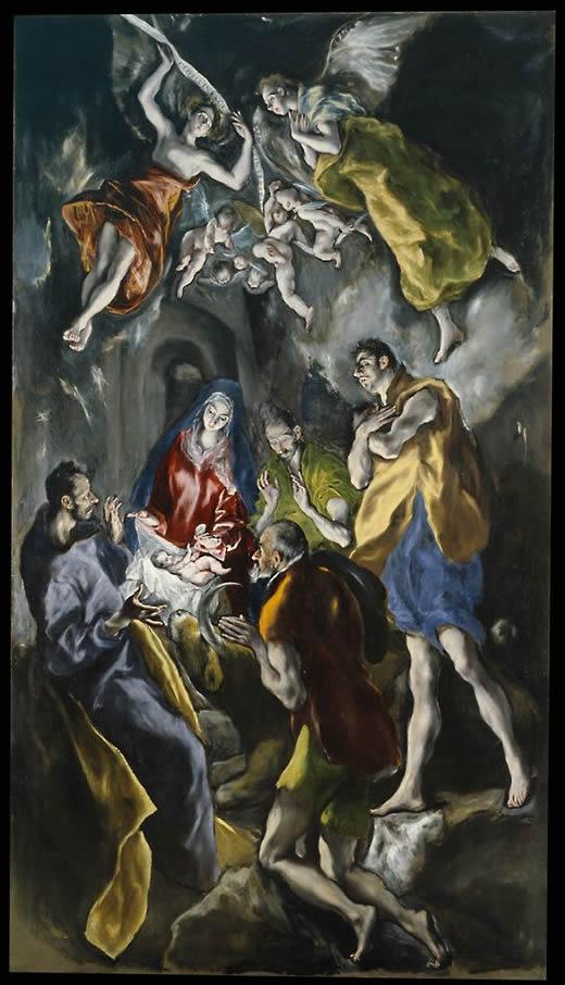 17. Adoración de los pastores, el Greco