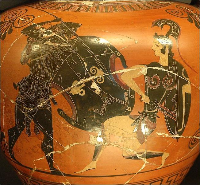 11. Heracles y Amazona (El Cinturón de Hipólita)