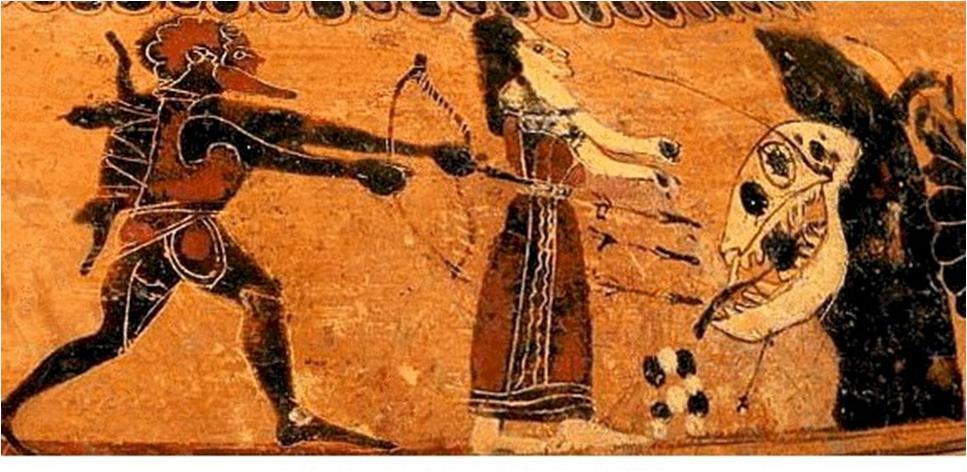 12. Heracles liberando a Hesíone