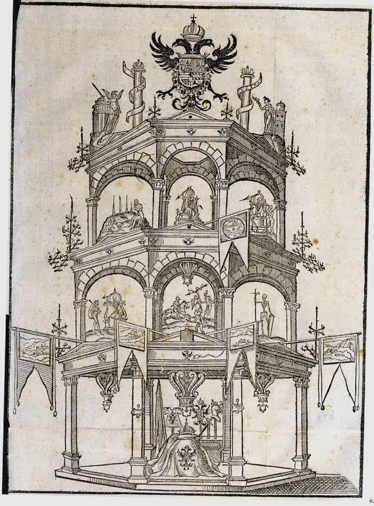 7. Exequias de Carlos V, túmulo de la Iglesia de San Benito, Valladolid