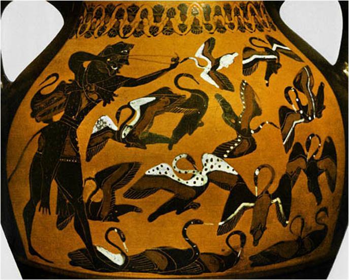 8. Heracles y las Aves del lago Estinfalo