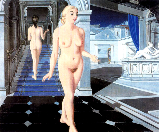 10, La escalera, Paul Delvaux