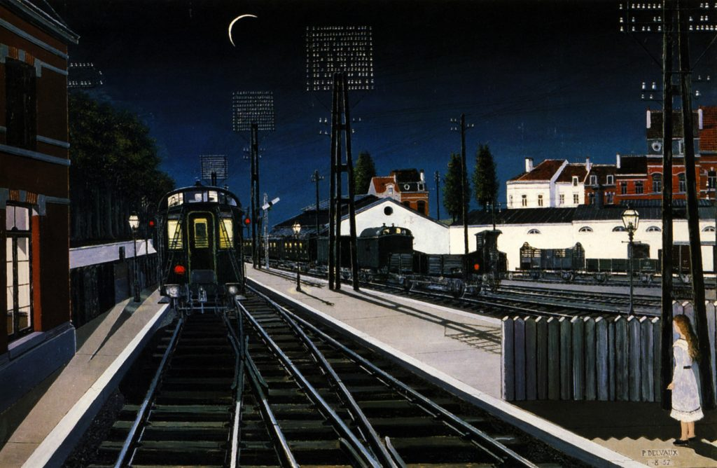 11, La estación, Paul Delvaux