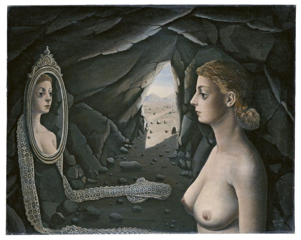 6, Mujer ante el espejo, Paul Delvaux