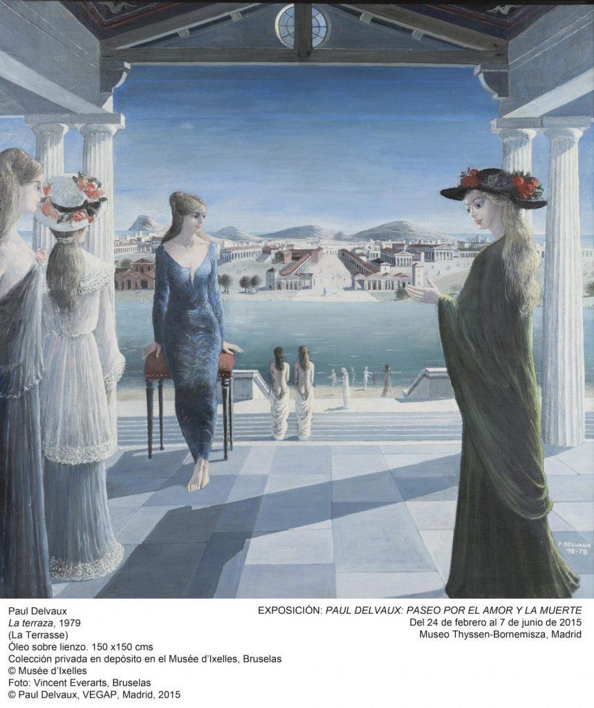 9, La terraza, Paul Delvaux