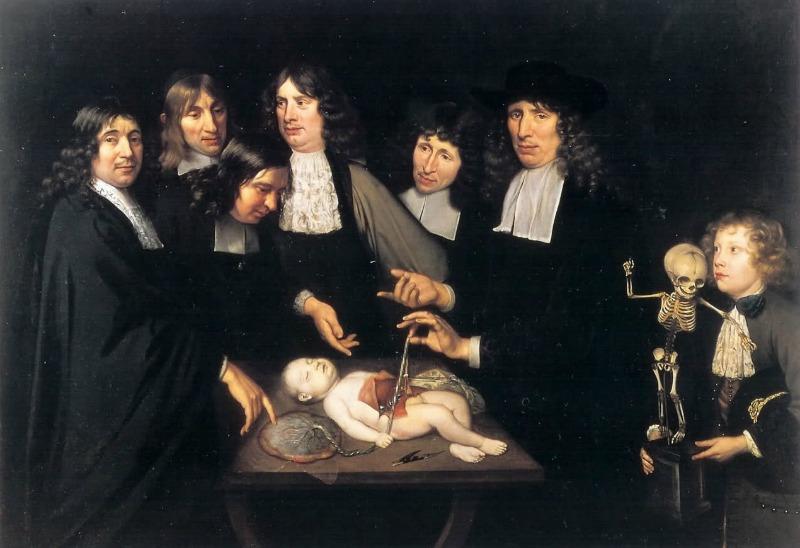 La lección de anatomía del Dr. Frederick Ruysch. Jan Van Neck. 1683