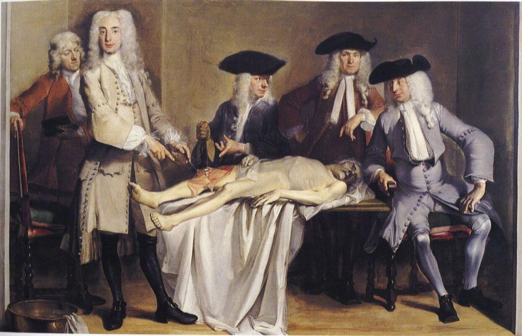 Lección de anatomía del Dr Willem Röell 1728 Cornelis Troost