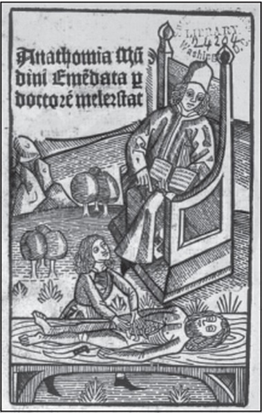 Lección de anatomía. Escuela Italiana. Siglo XV