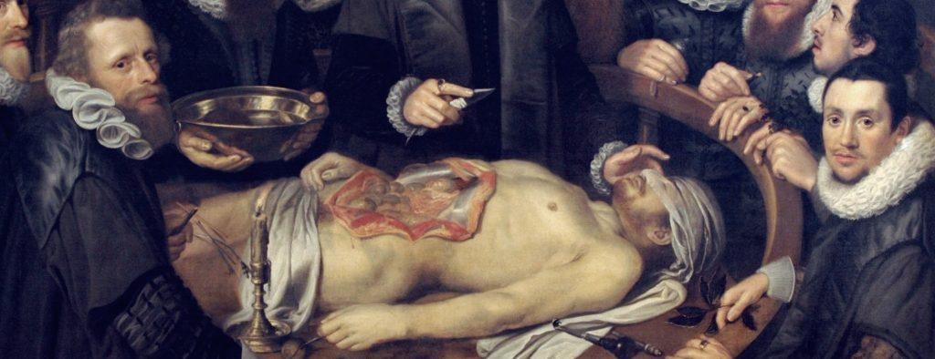 Anatomische les van Dr. W. van der Meer, Delft