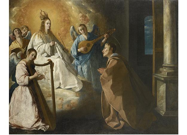 4. Zurbarán, Aparición de la Virgen a San Pedro Nolasco