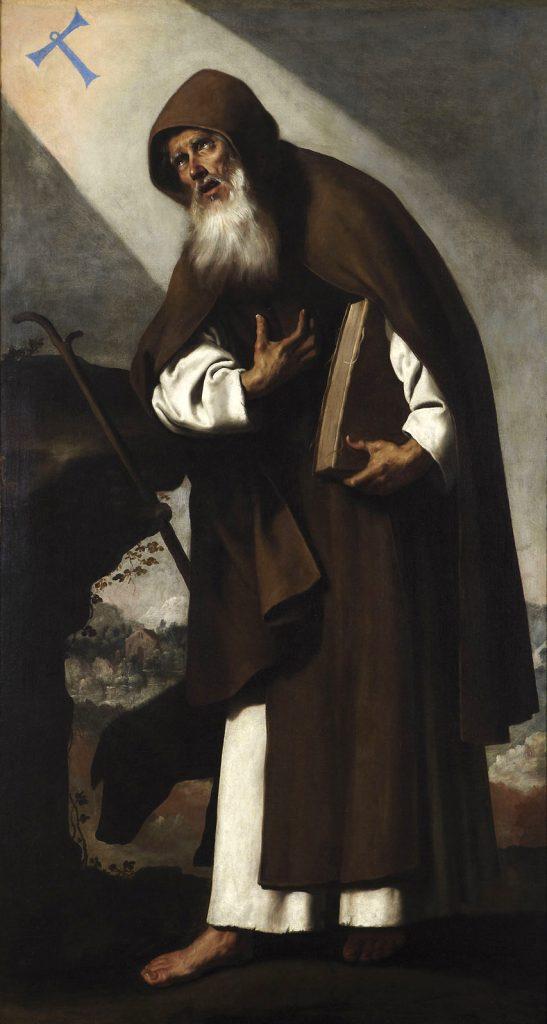8. Zurbarán, San Antonio Abad