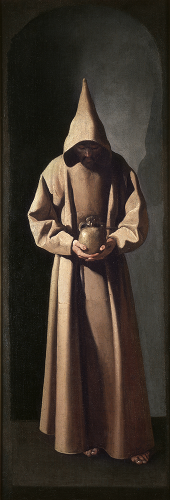 9. Zurbarán, San Fco de pie contemplando una calavera