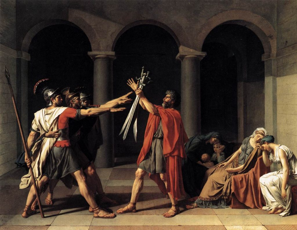 1. Juramento de los Horacios. Jacques Louis David