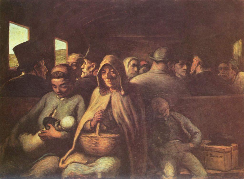 16. El vagón de tercera, Daumier