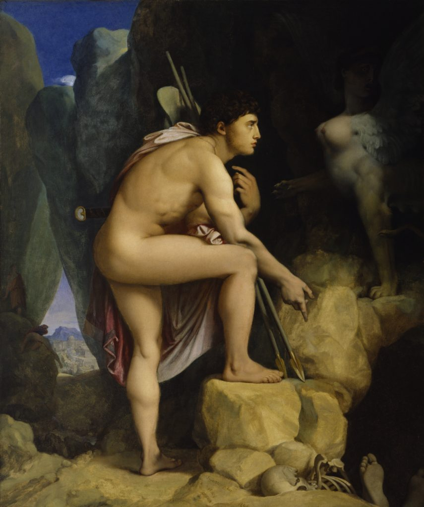 2. Edipo y la esfinge. Dominique Ingres