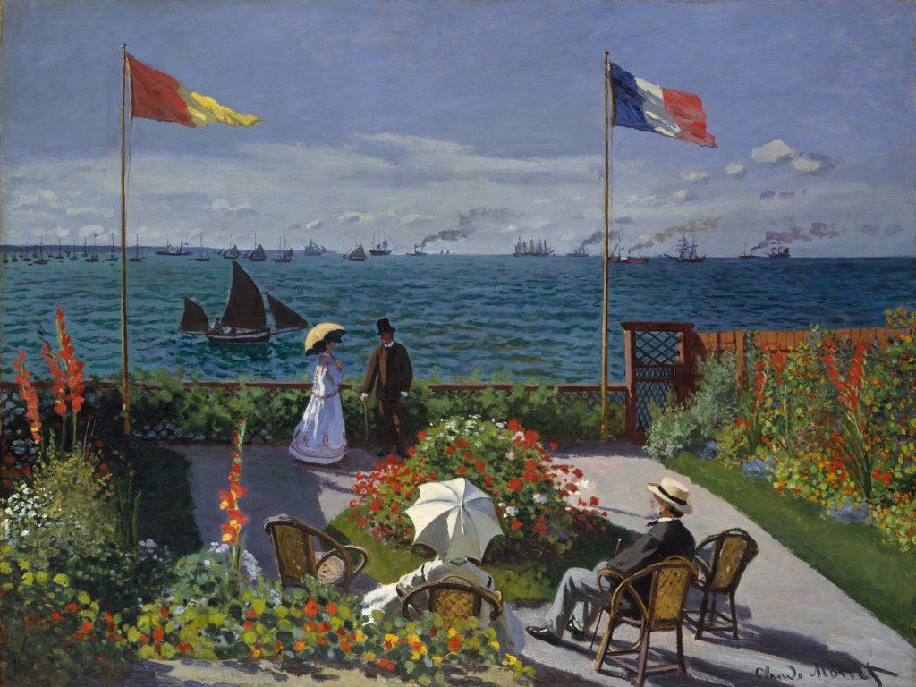 20. Jardín en Sainte-Adresse. Monet