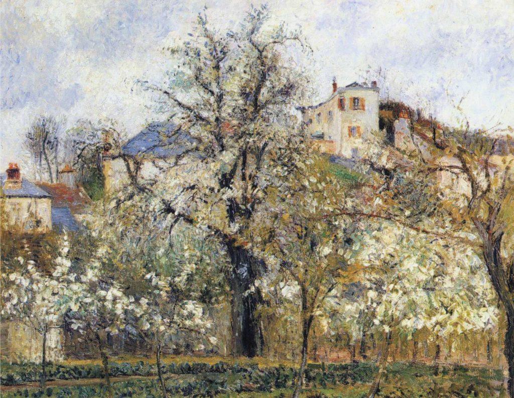 21. Primavera, ciruelos en flor. Pissarro