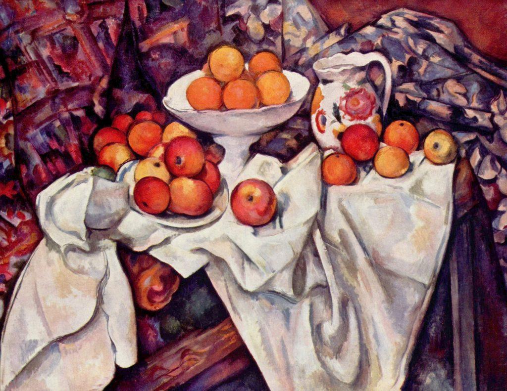 25. Bodegón con manzanas y naranjas. Cézanne