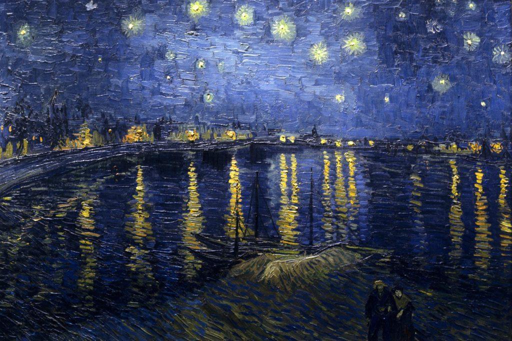 26. Noche estrellada sobre el Ródano. Vincent Van Gogh