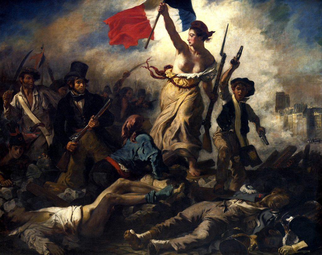 4. La libertad guiando al pueblo. Delacroix