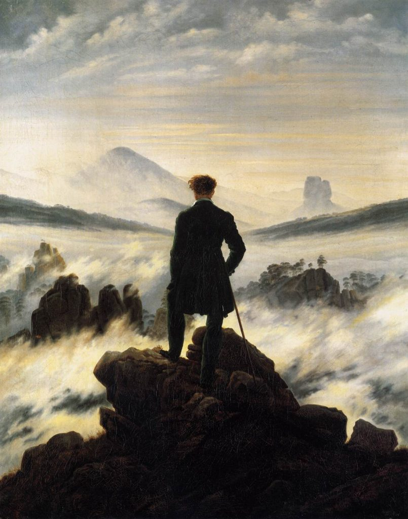 6. Caminante sobre mar de nubes. Friedrich