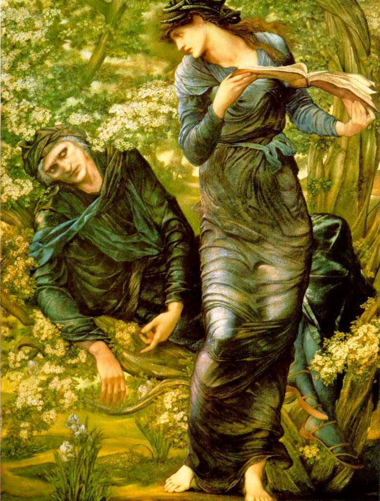 9. La seducción de Merlín. Burne Jones