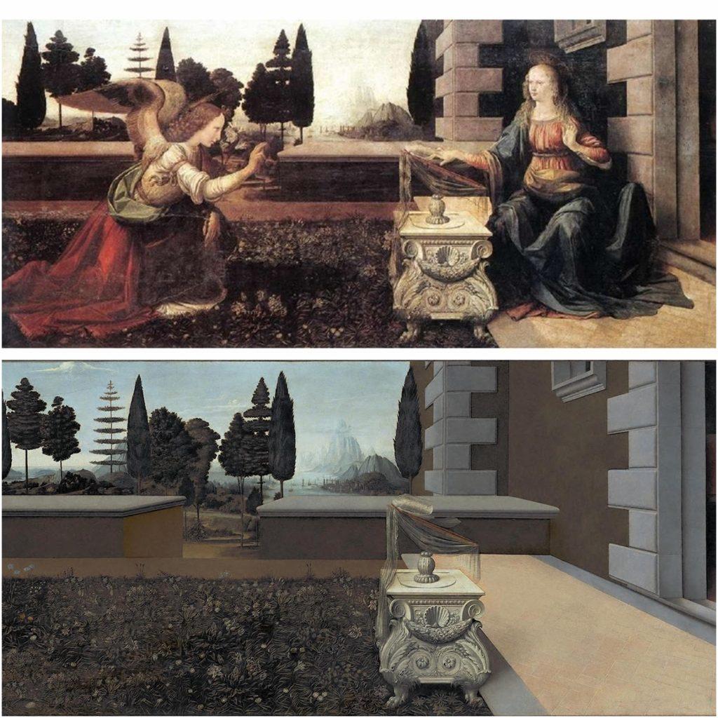 12. La Anunciación, Da Vinci