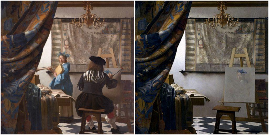 5. Estudio del artista, Vermeer