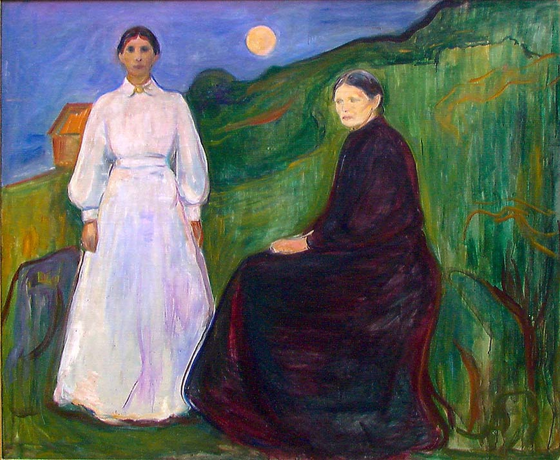 3. Munch. Madre e hija