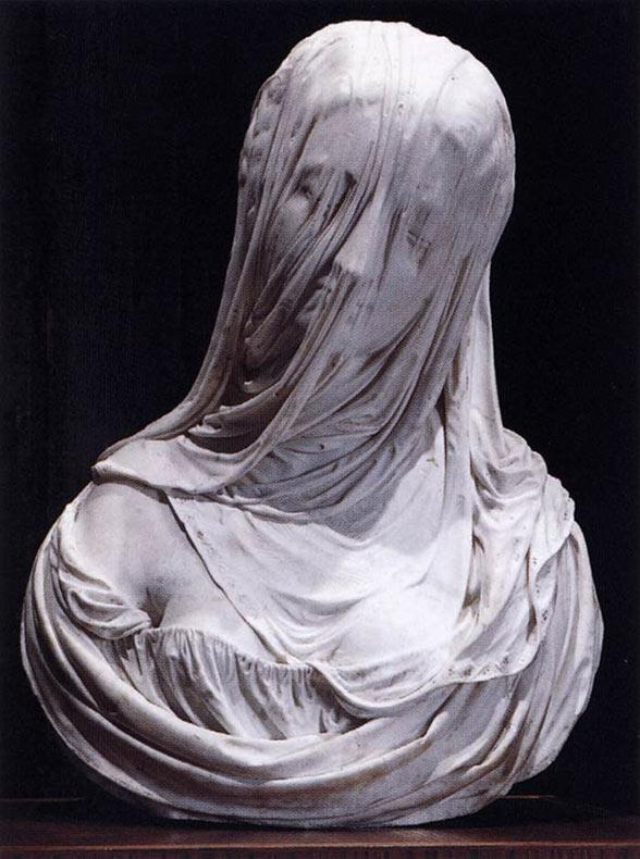 1. Busto de una mujer con velo, Corradini