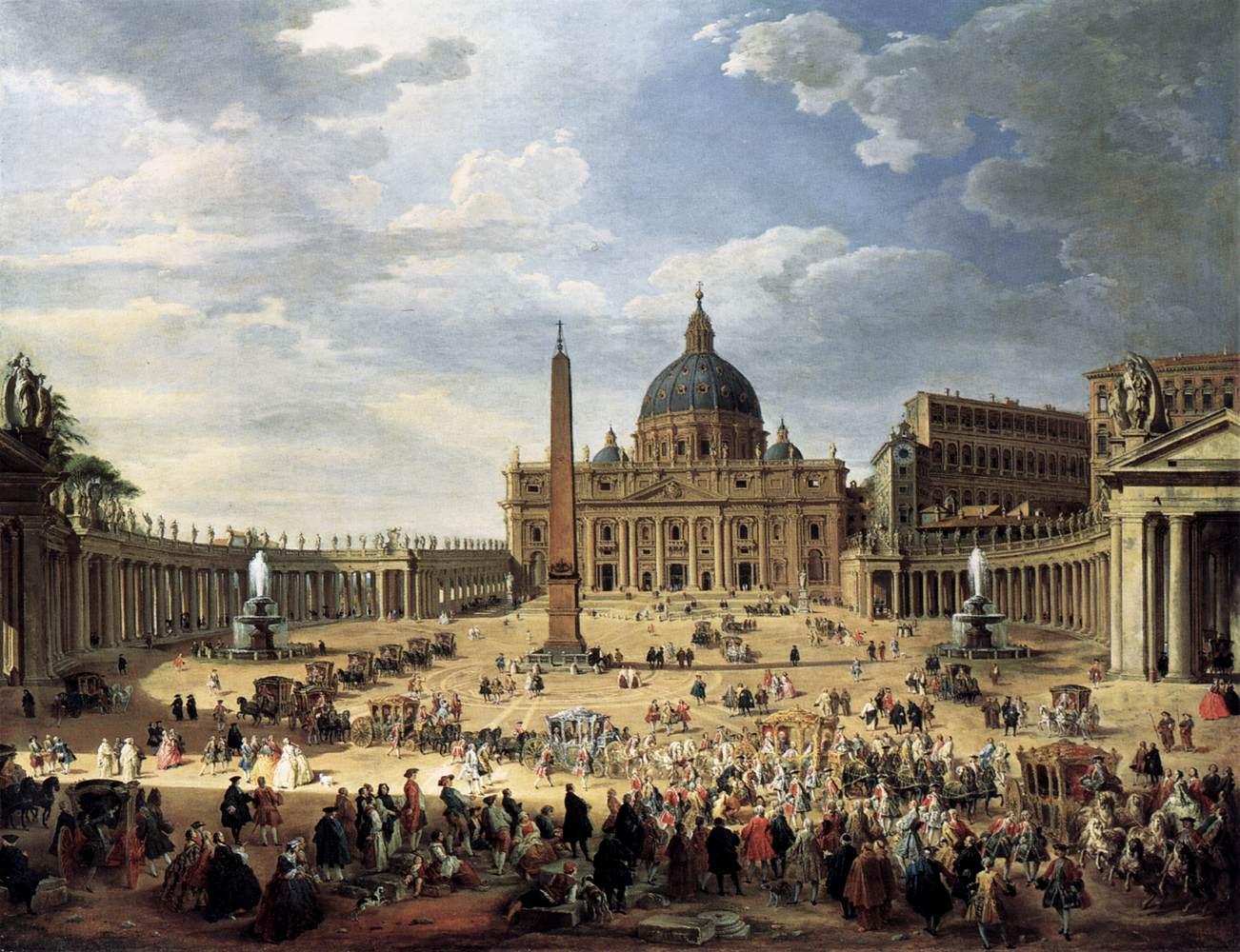 2. Salida del Duque de Choiseul desde la Plaza de San Pedro, Panini