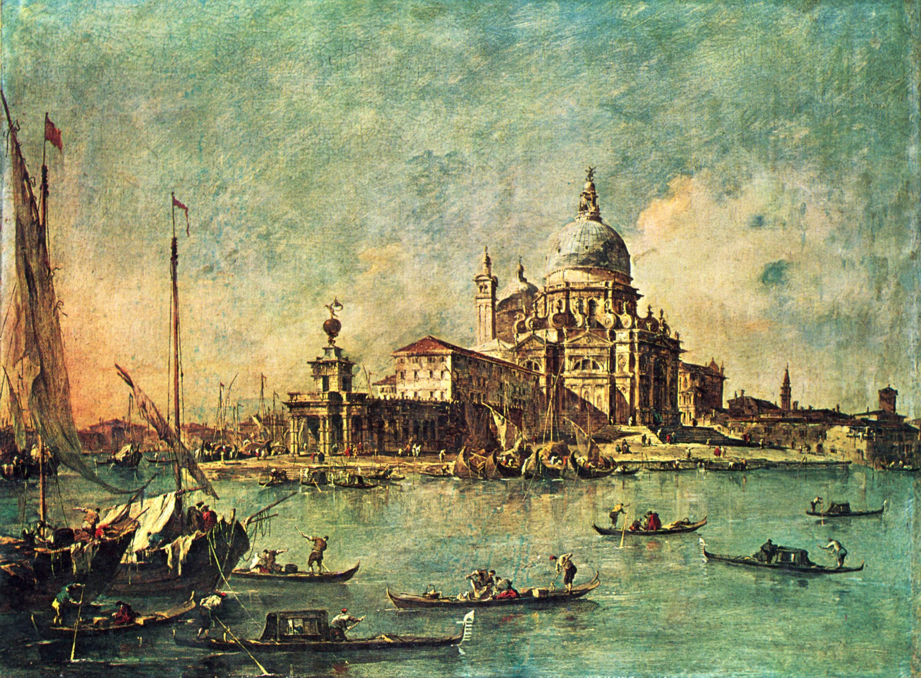 3. Vista de la Punta della Dogana en dirección a la Chiesa della Salute, Guardi