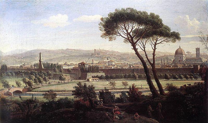 8. Vista de Florencia desde la Via Bolognese, Van Wittel